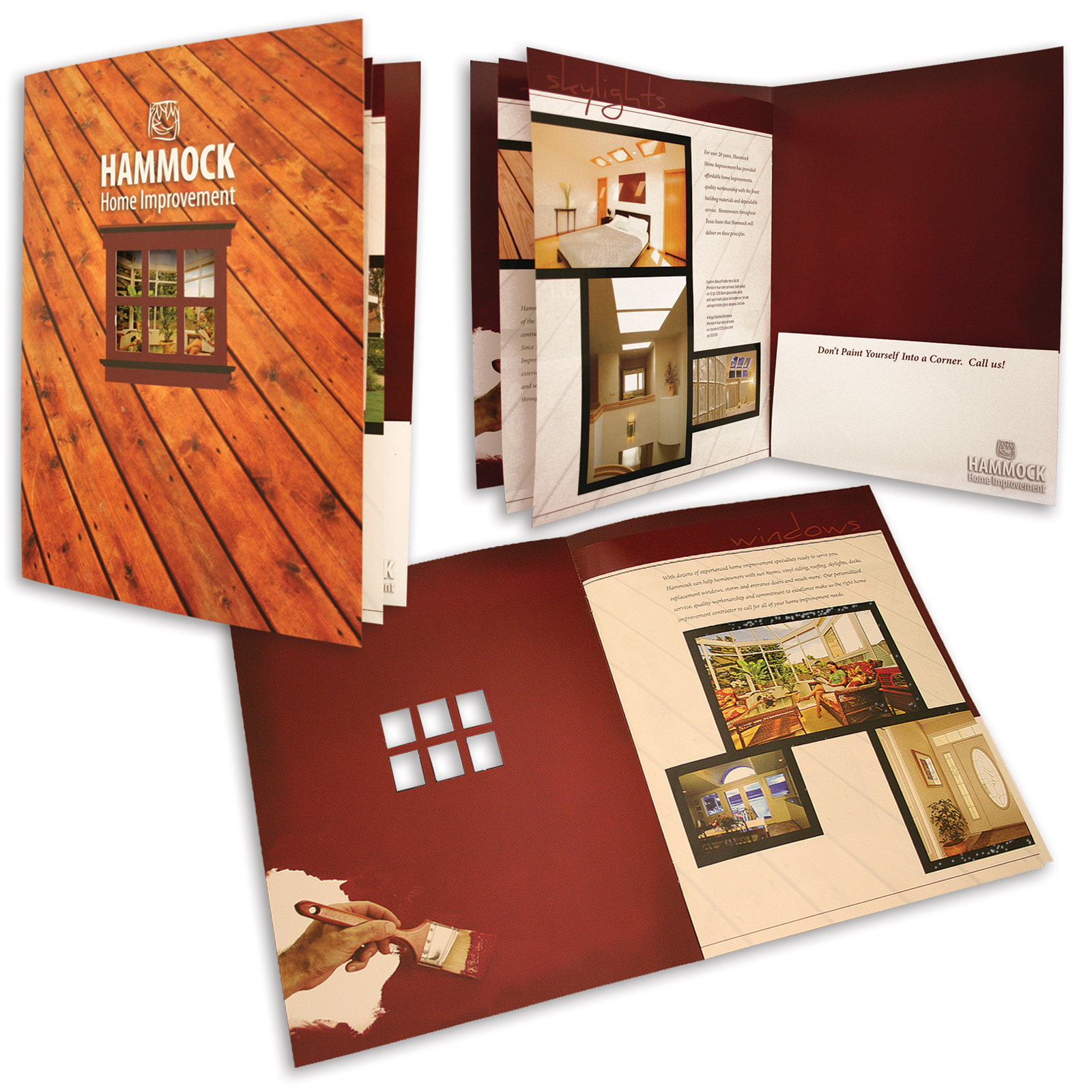 Special Window Registered to Print and Coordinating Stitched Brochure
