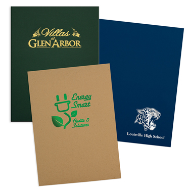 08-96-FOIL Foil Stamped Quick Ship Economy Folder